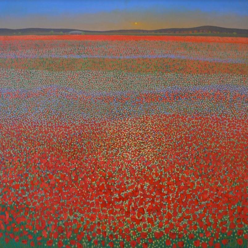 Ton Dubbeldam - Poppy Field Sunset