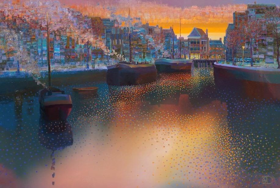 Ton Dubbeldam - Old Harbor Town