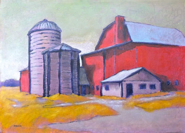 Andy Newman - Barn and Silos