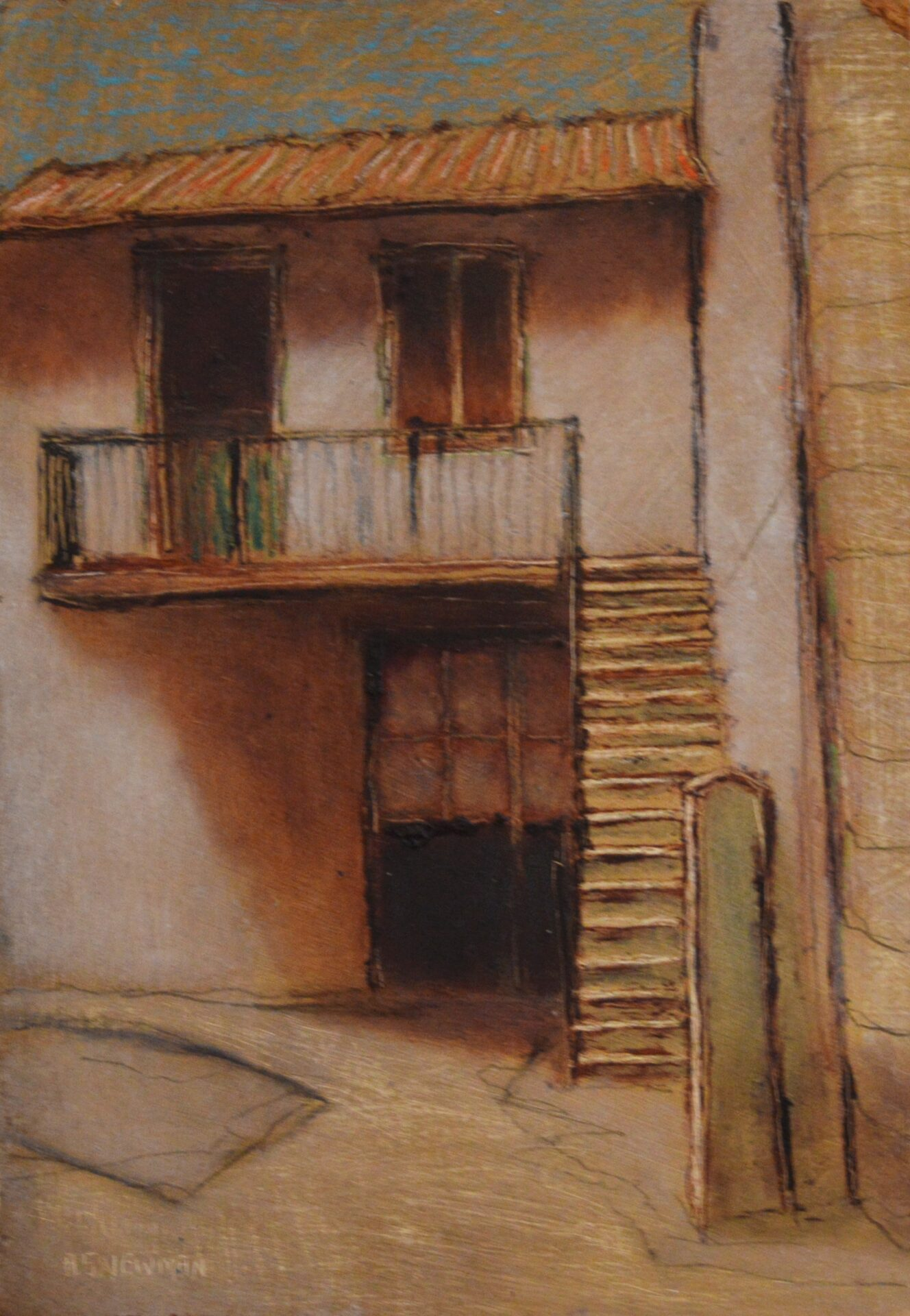 Andy Newman - House with Stairs