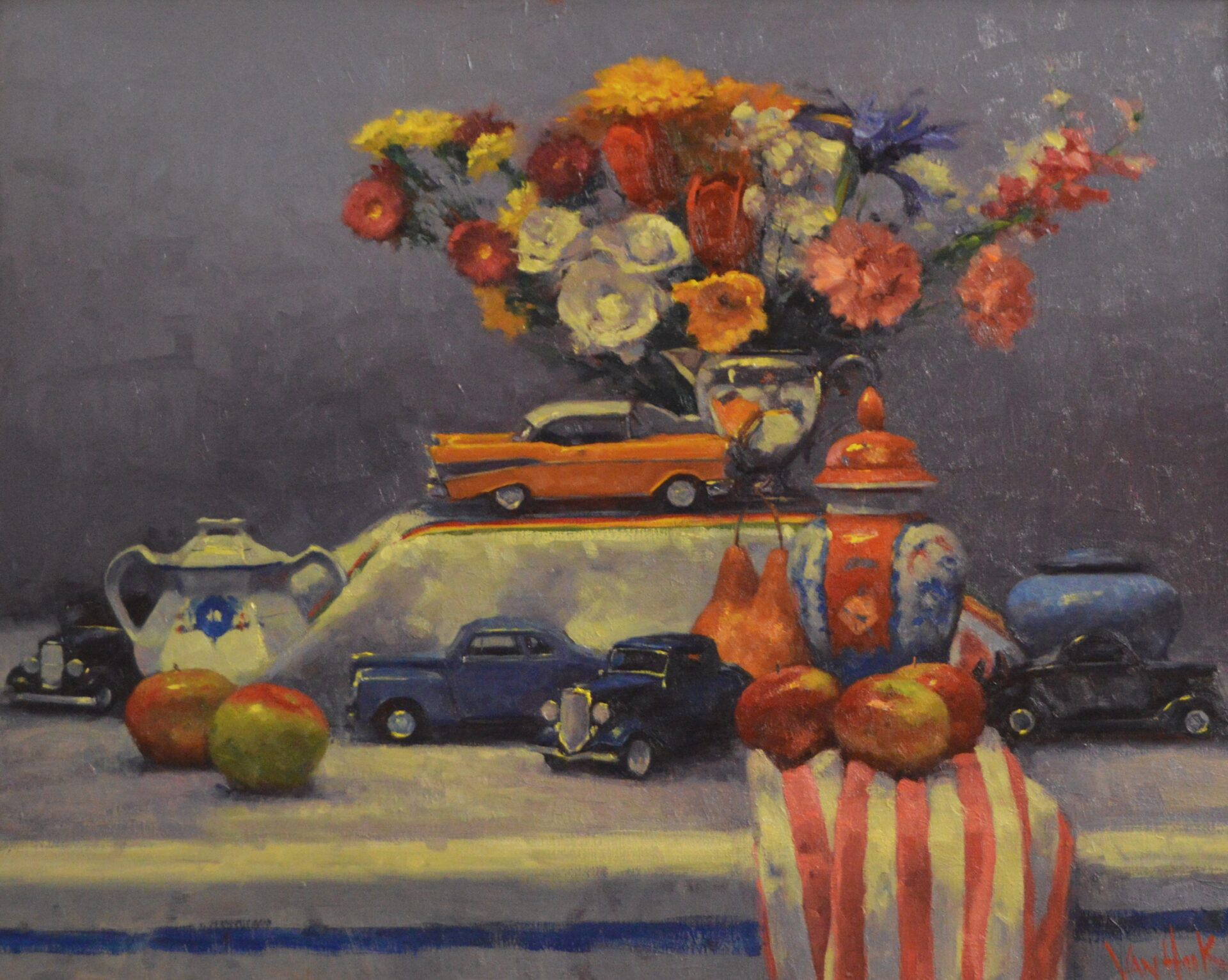 George Van Hook - Still Life with Cars