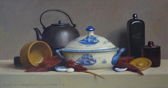 Robert Douglas Hunter - Arrangement with a Blue and White Export Tureen