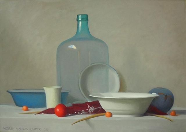 Robert Douglas Hunter - Arrangement with a Clear Glass Bottle