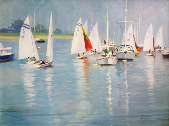 Hagop Keledjian - Busy Harbor