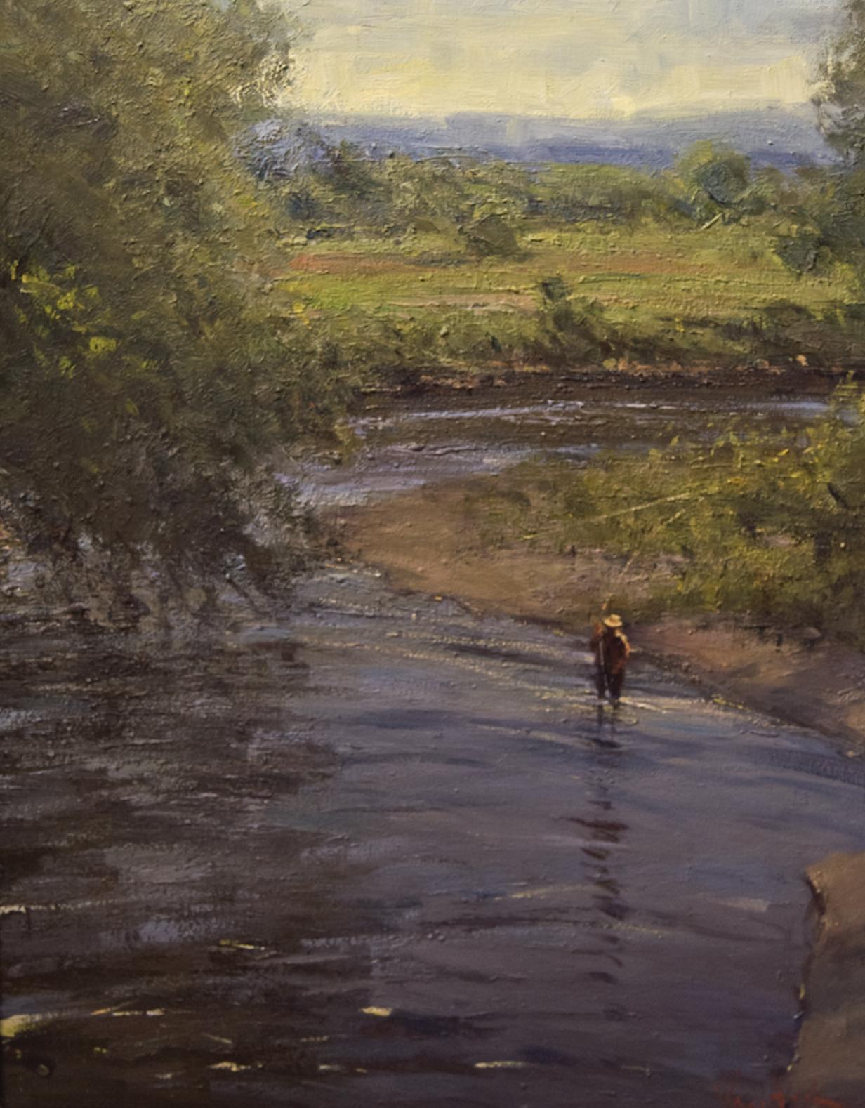 George Van Hook - Fishing the River Bend