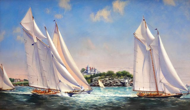 Peter Layne Arguimbau - Classic Regatta, Newport; Mariette, Eleonora
