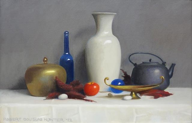 Robert Douglas Hunter - Arrangement with a White Vase