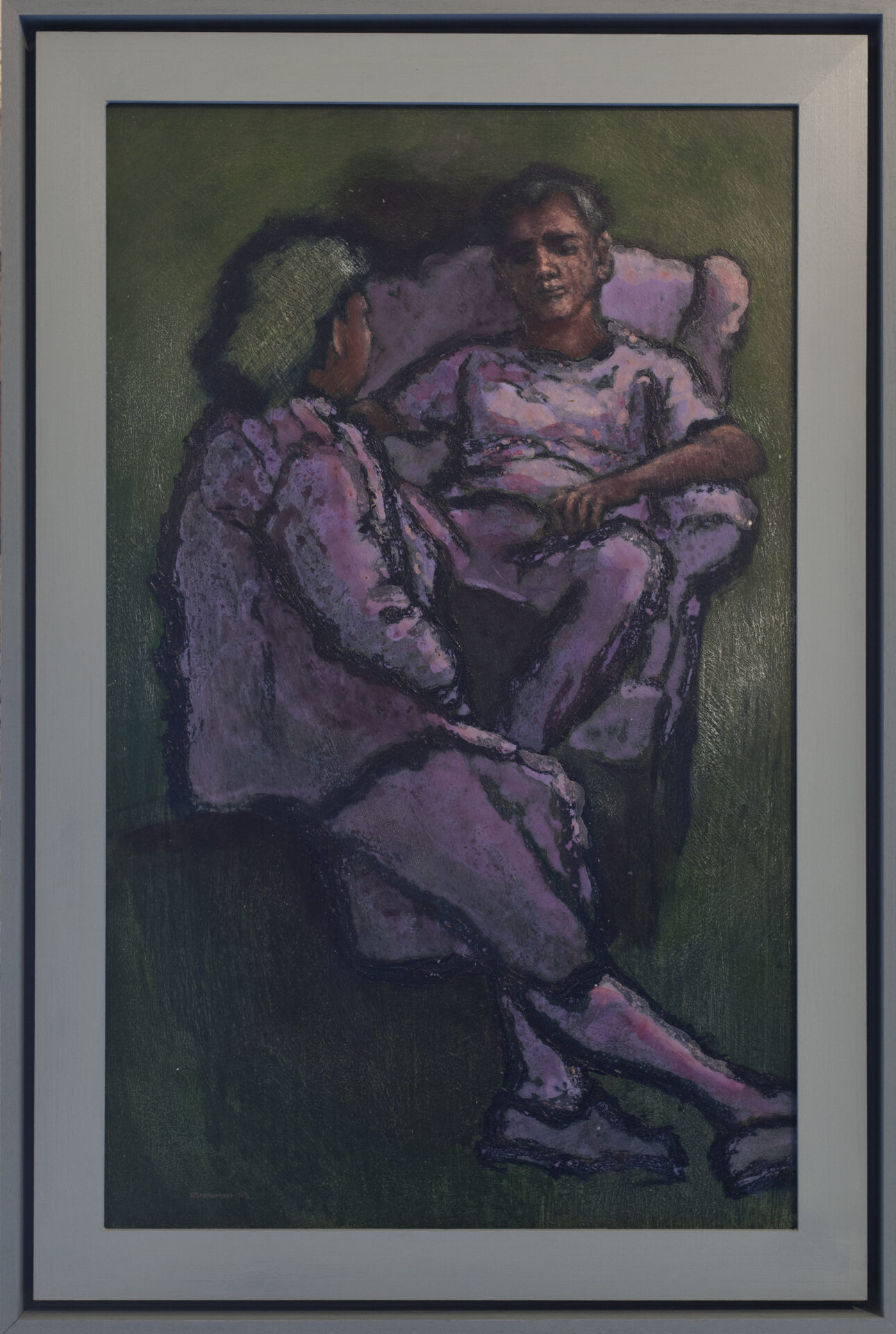 Two Seated Figures | Andy Newman | 21 x 13"