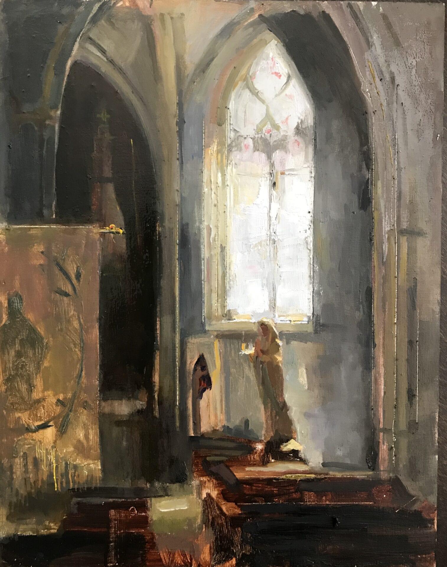 Stacy Kamin - Small Church in Burgundy