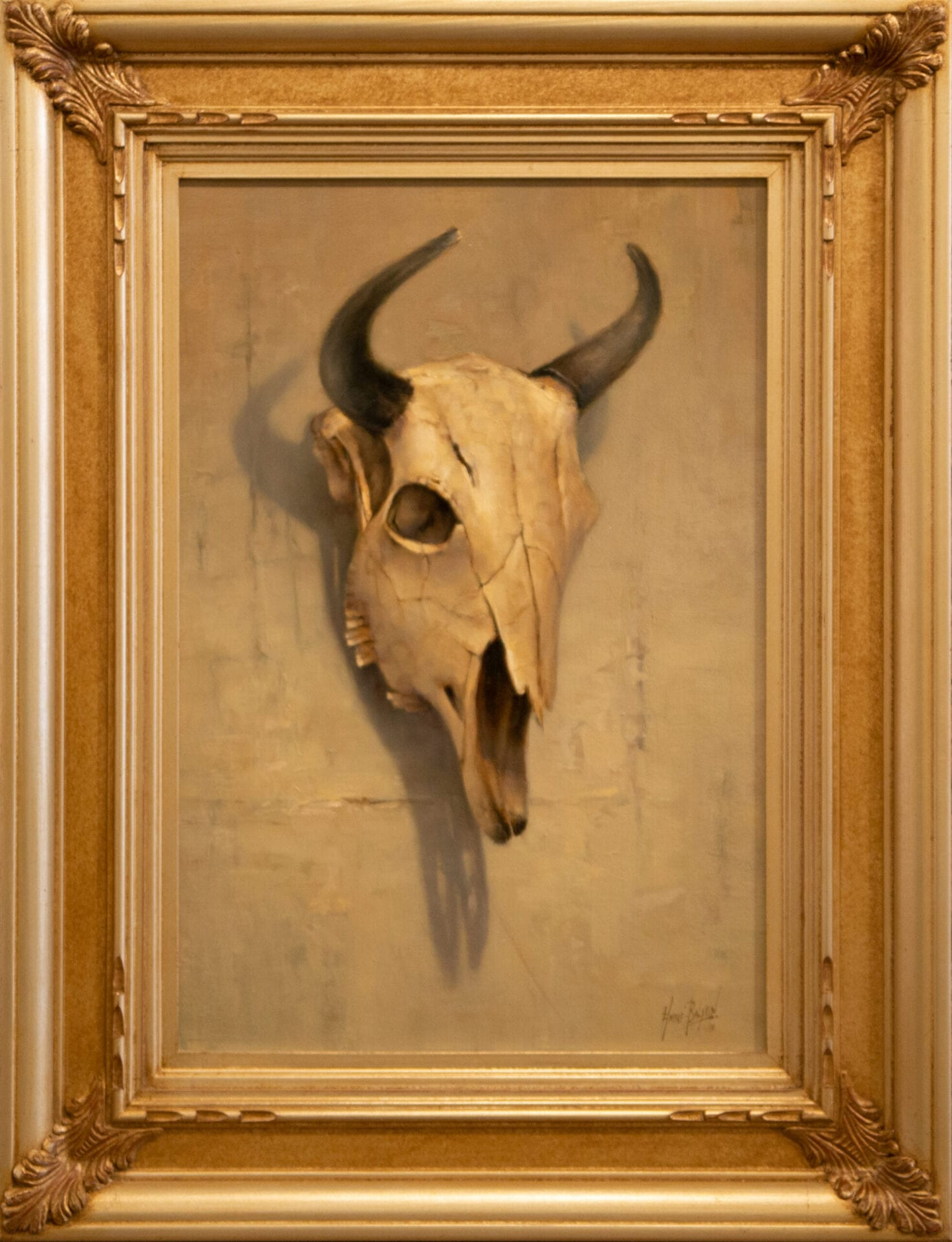 The Bison Skull | Andre Balyon | Oil | 22 x 15""
