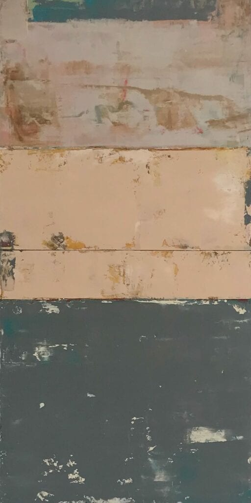 Rosa Italiano | Allison B. Cooke | Oil/Mixed Media | 32 x 16""