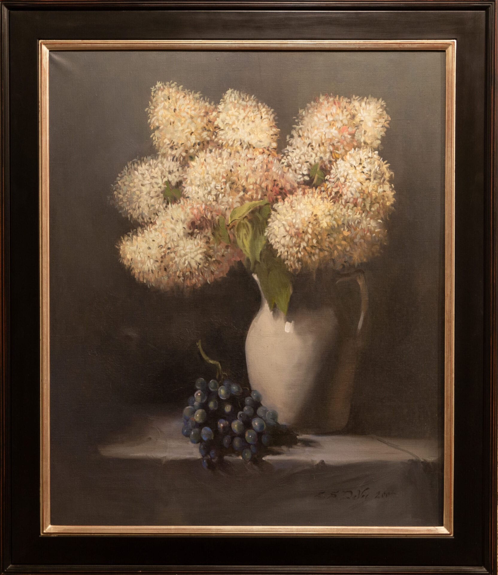 "Hydrangeas and Grapes | Edward DeVoe | Oil | 36 x 30"""