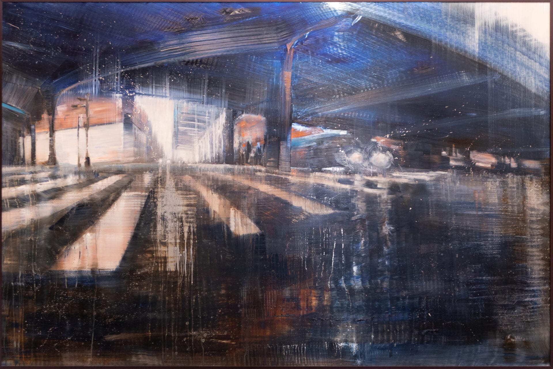 City Reflections | David & Max Dunlop | Oil on Aluminum | 48 x 72""