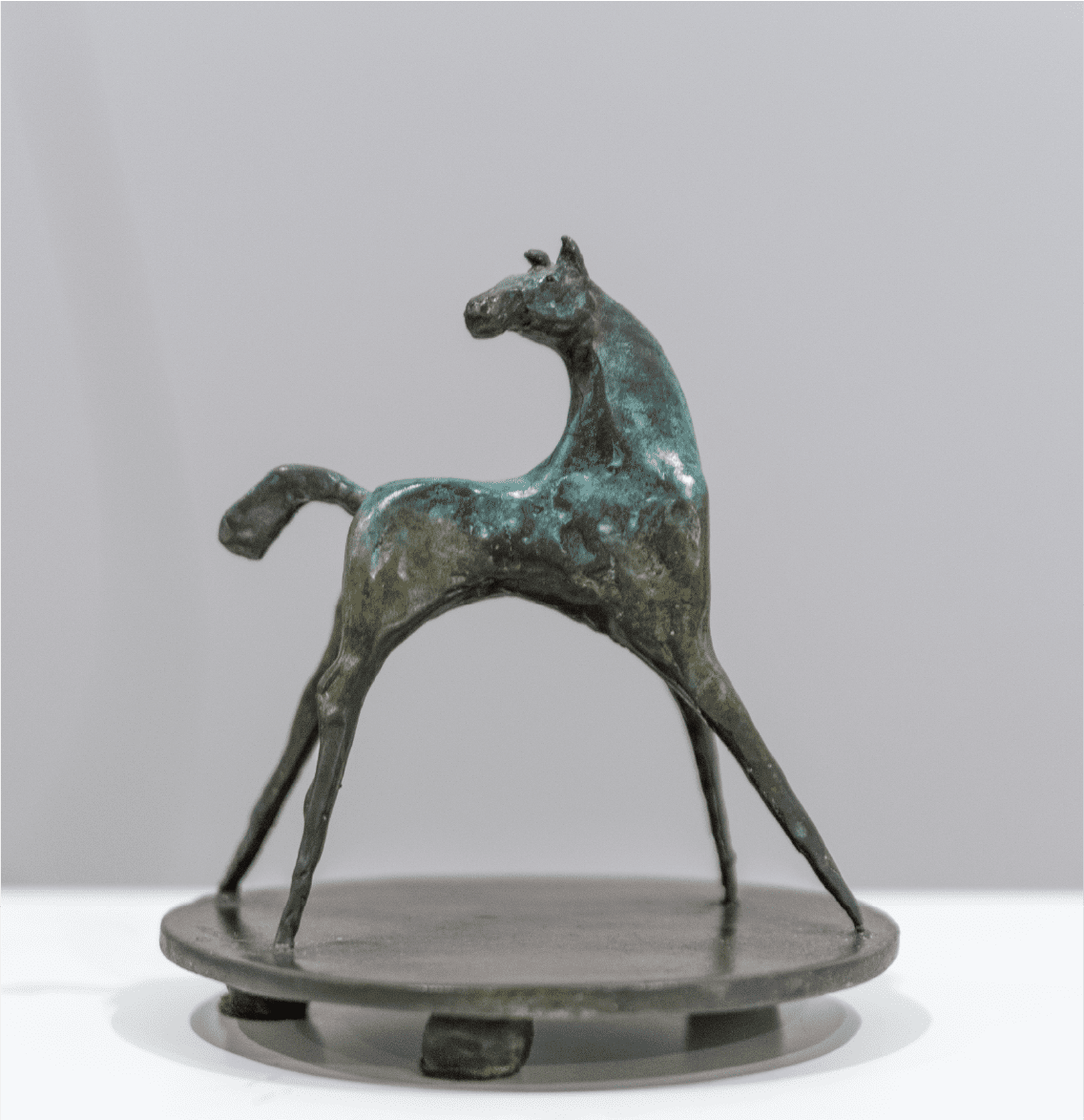 Heads Up Horse On | Catherine Ferrell | Bronze | 7 x 6 x 6""