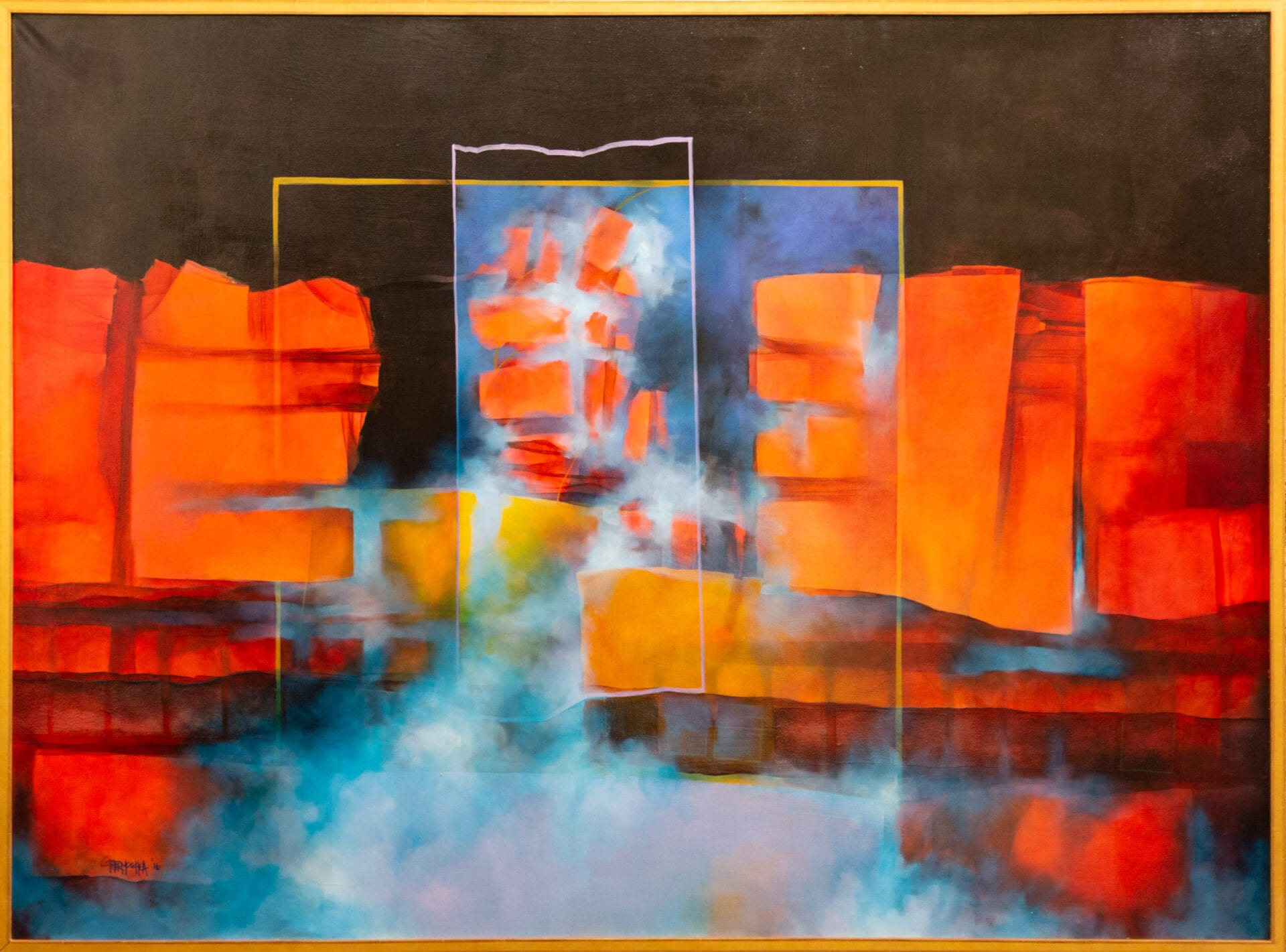 Fantasy in Reds | Guido Garaycochea | Oil | 46 x 63""