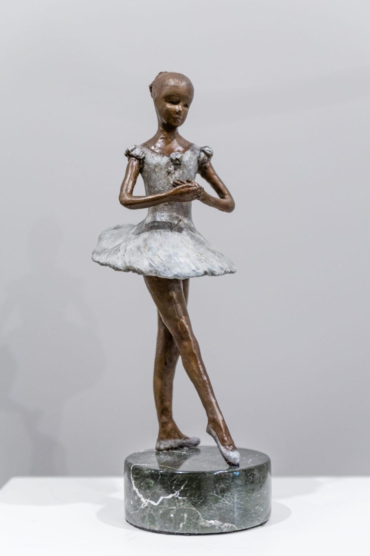 "Little Ballerina | Catherine Ferrell | Bronze | 15 x 6 x 6"""