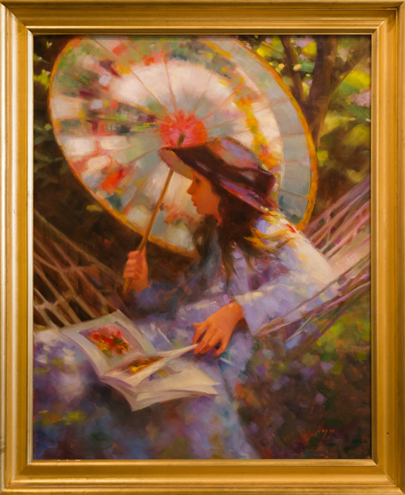 "Under the Umbrella | Hagop Keledjian | Oil | 40 x 32"""