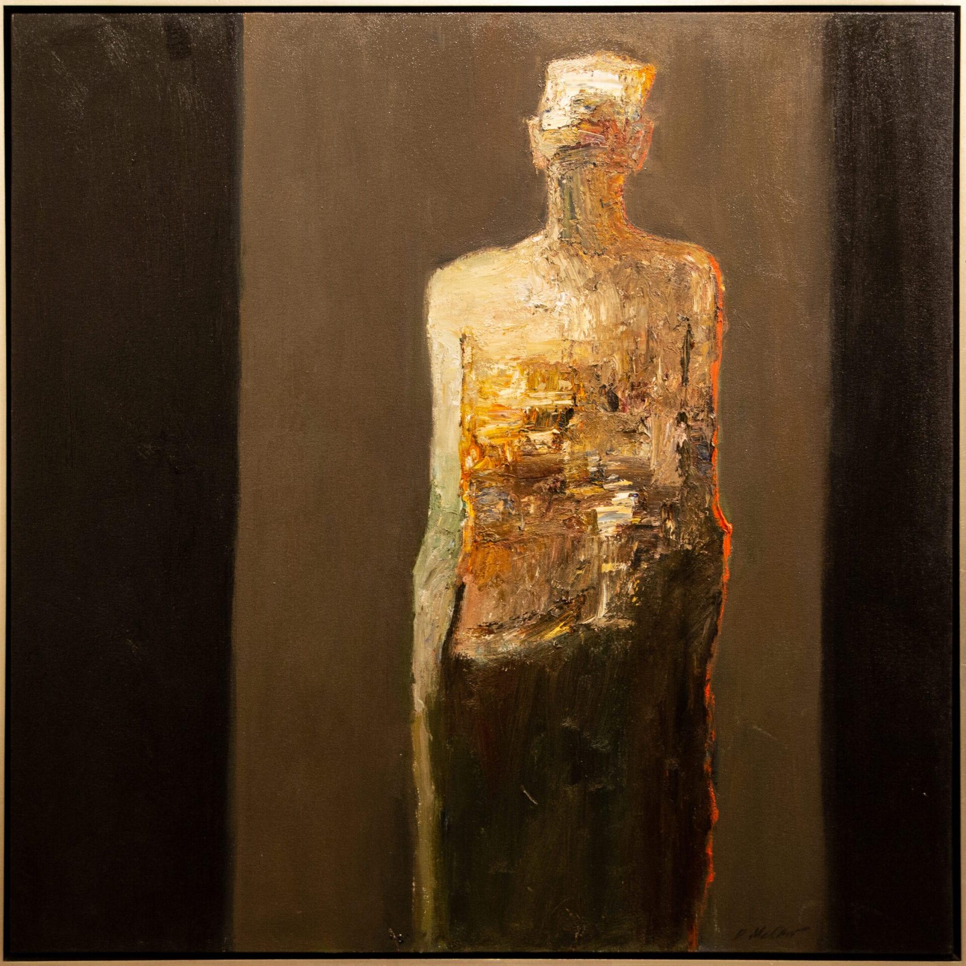 "Standing Figure | Dan McCaw | Oil | 45 x 45"""
