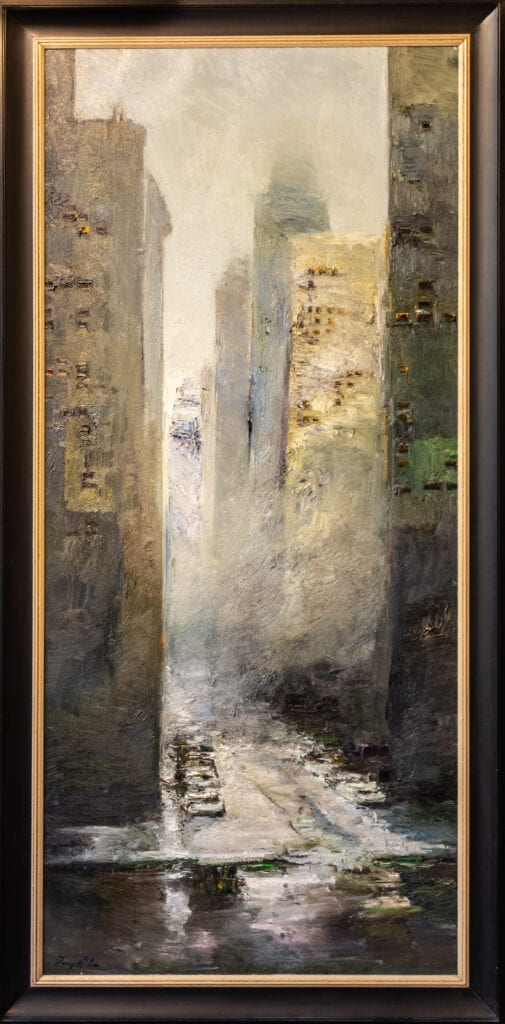 "The City | Danny McCaw | Oil | 80 x 36"""