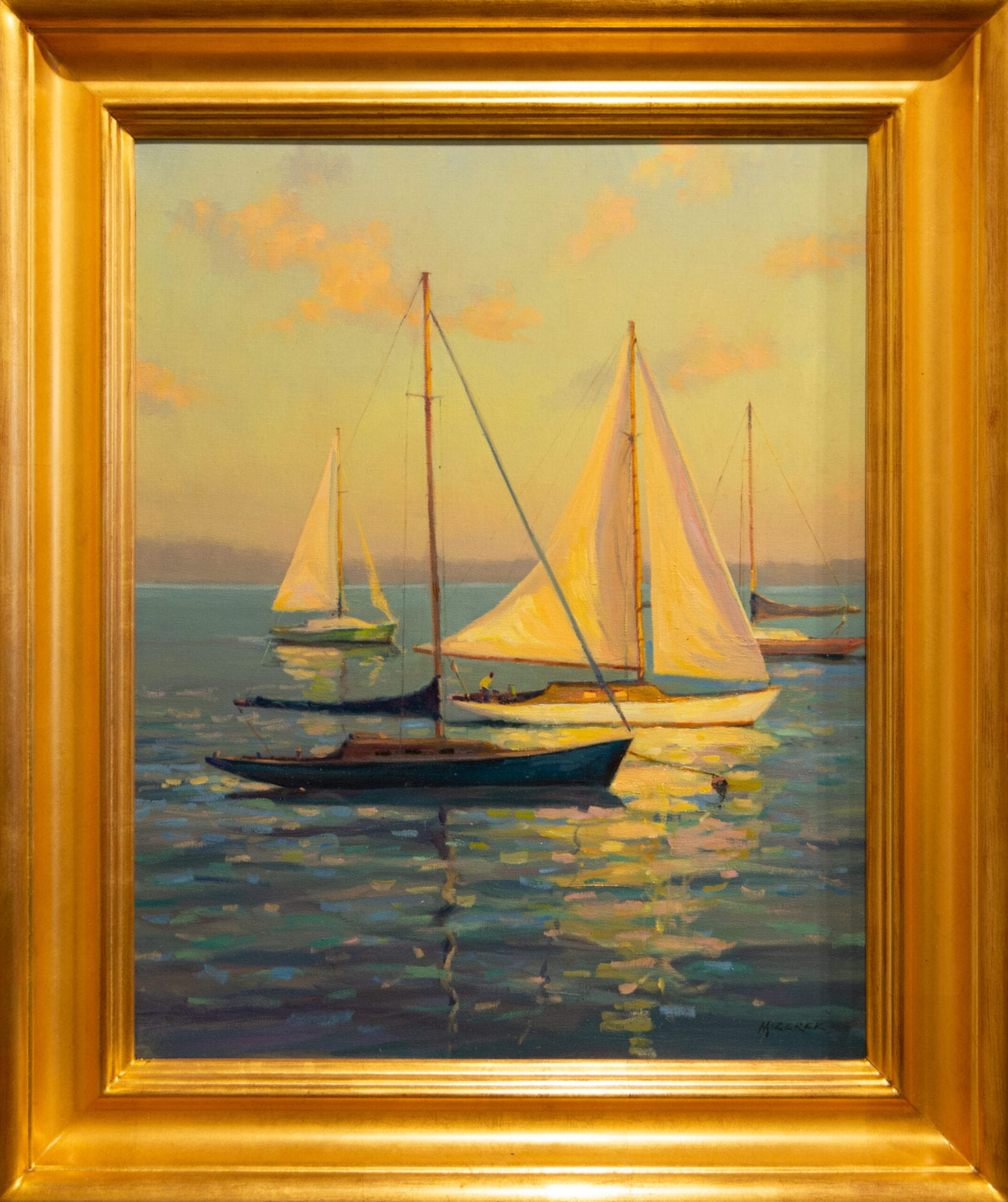 "Calm Waters | Leonard Mizerek | Oil | 20 x 16"""