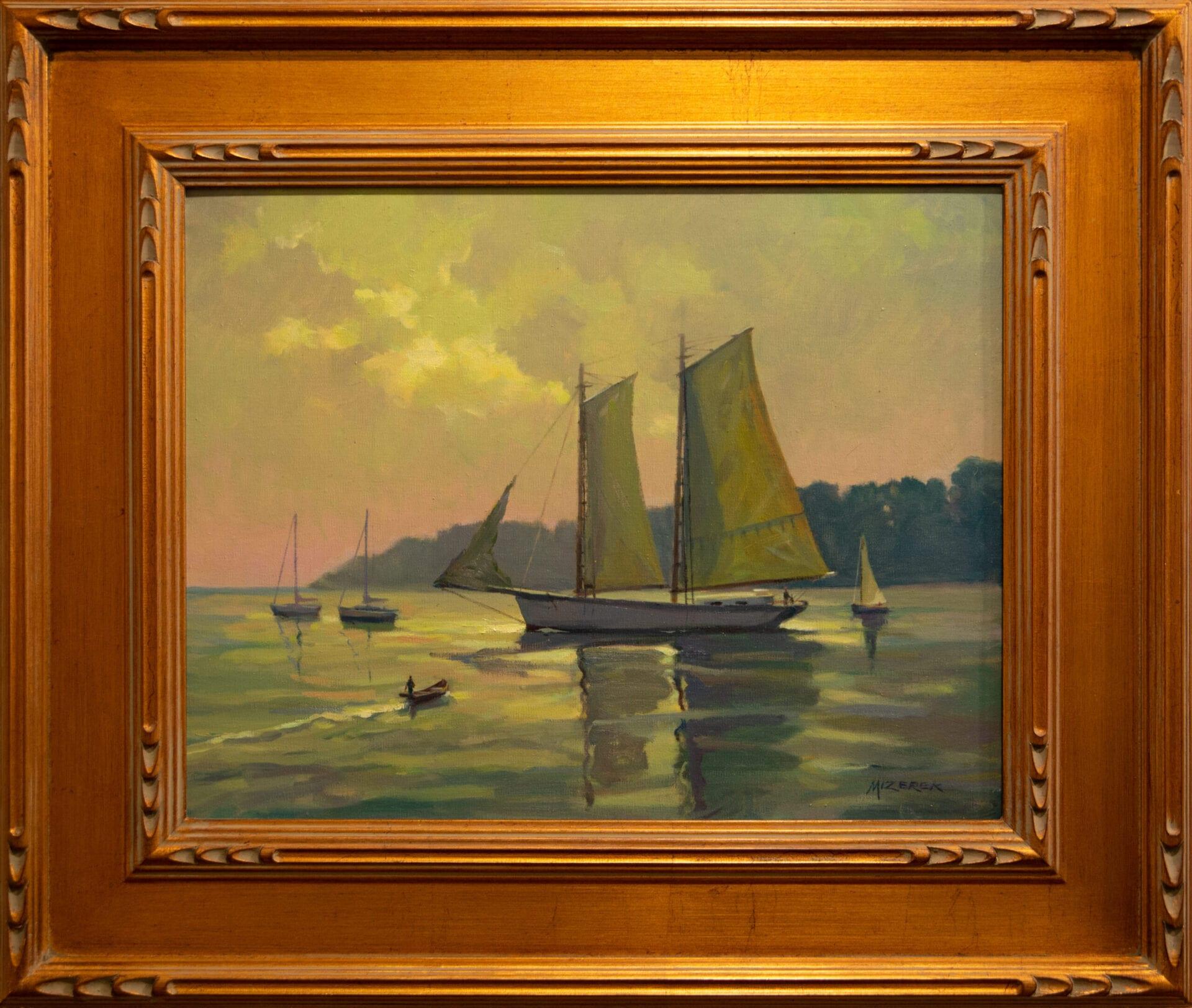 "Edge of Twilight | Leonard Mizerek | Oil | 14 x 18"""