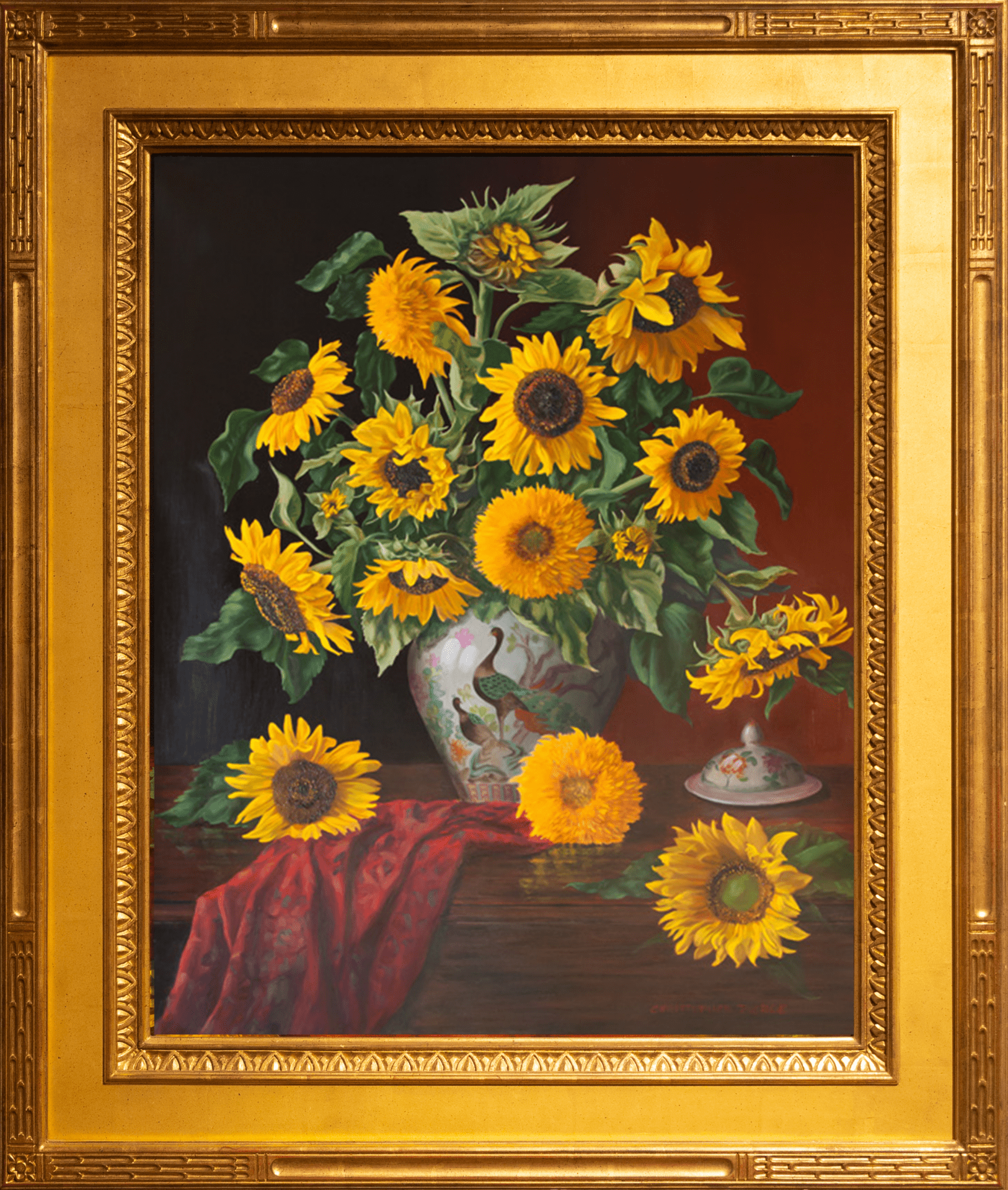 Sunflowers | Christopher Pierce | Oil | 50 x 40""