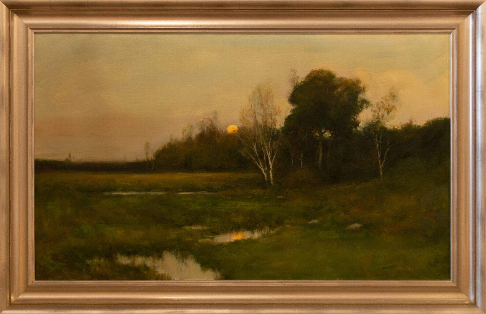 """The Stream   Dennis Sheehan   Oil   24 x 40"""""""