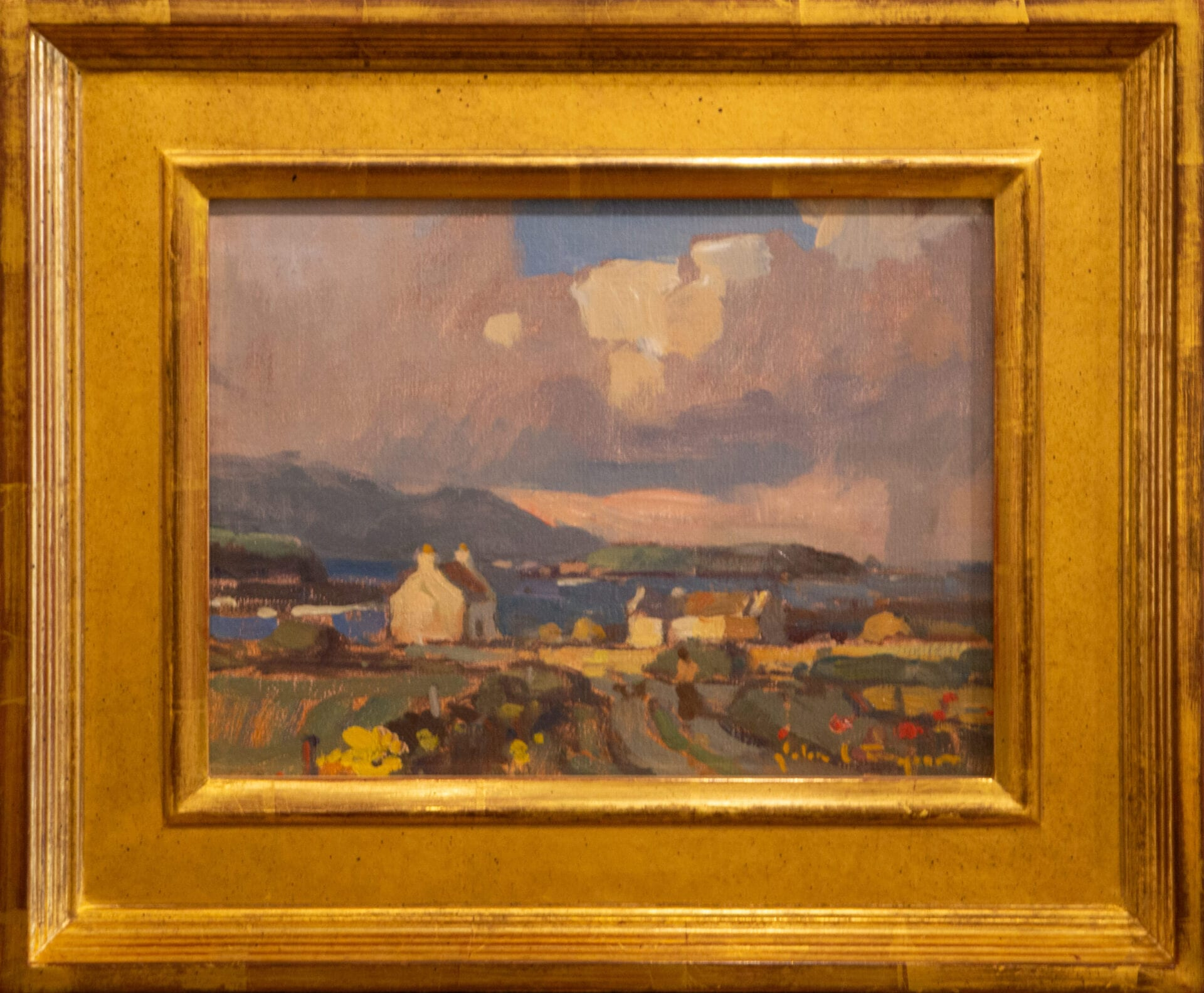 "Passing Show County Clare Ireland   John Traynor   Oil   9 x 12"""