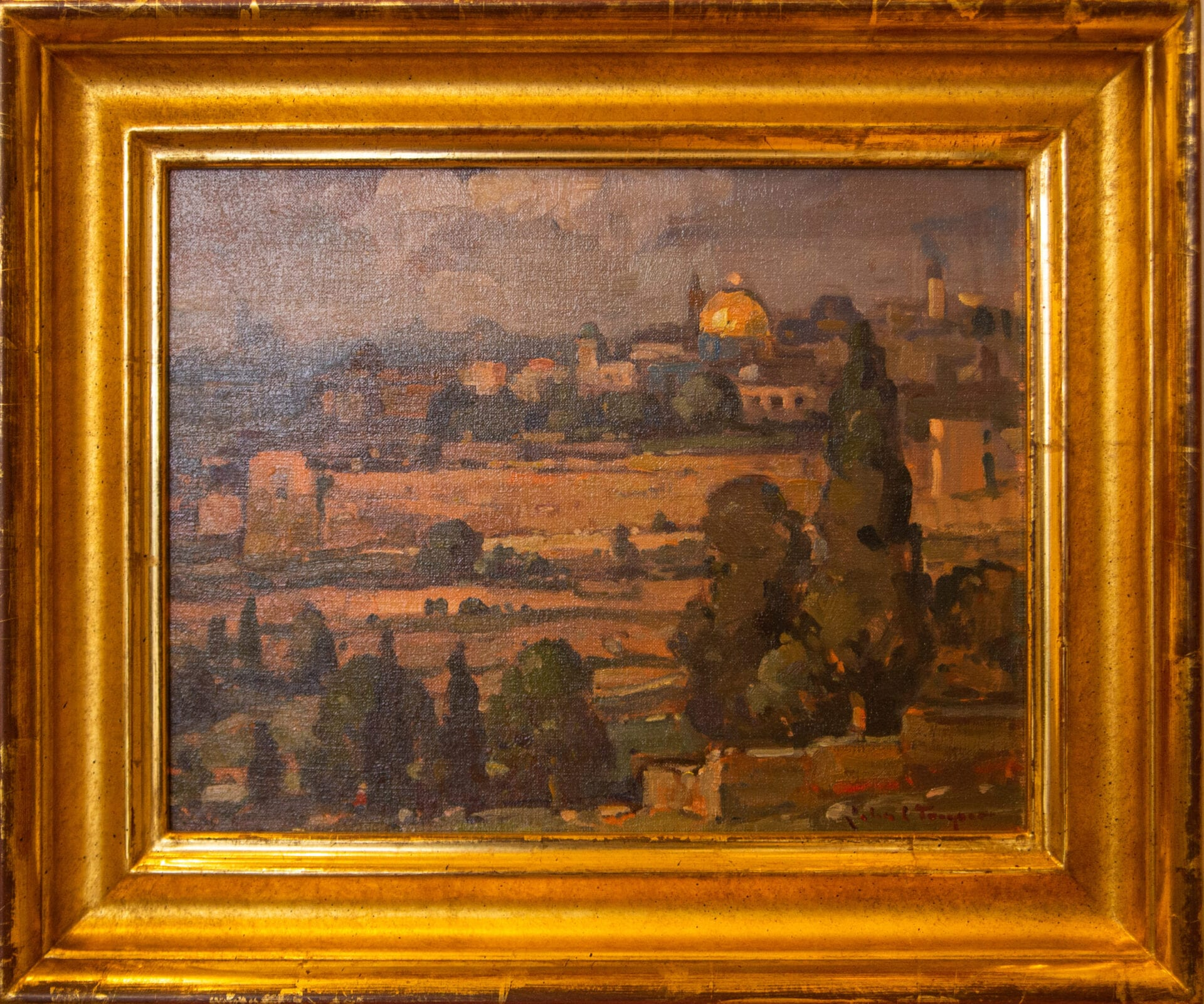 "View of Jerusalem | John Traynor | Oil | 11 x 14"""