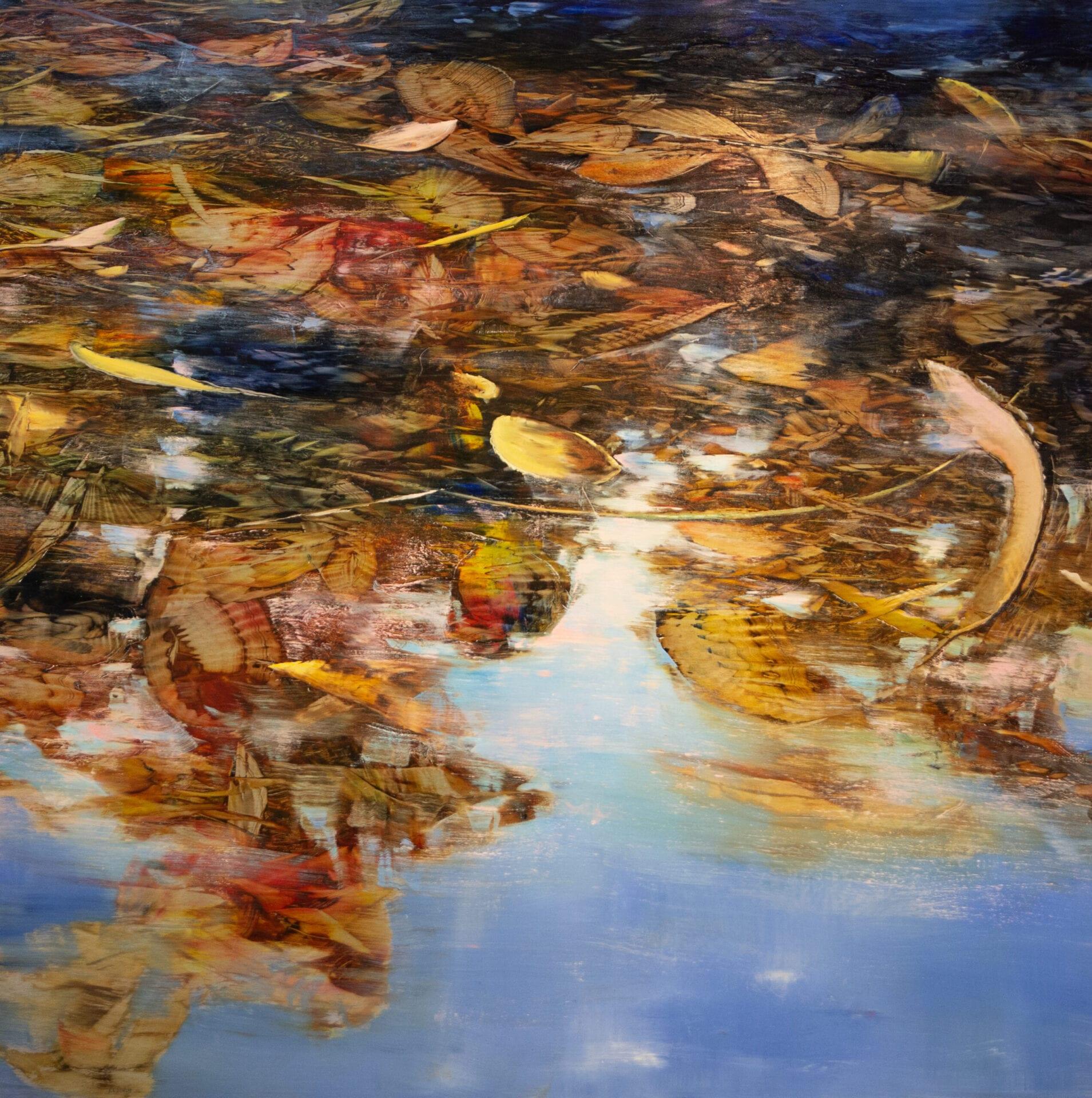 David Dunlop - Leaves in Water