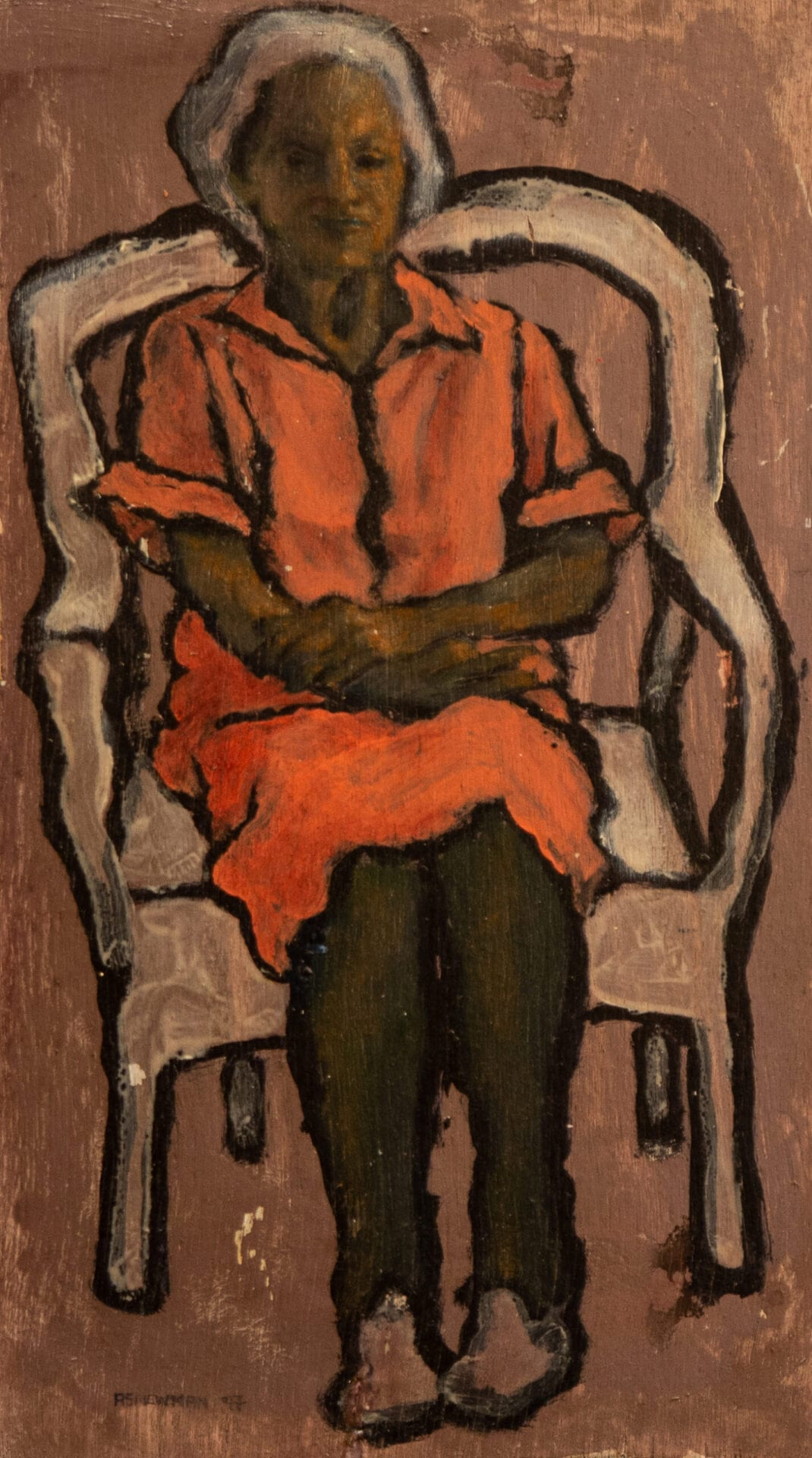 Andy Newman - Woman in a Wicker Chair