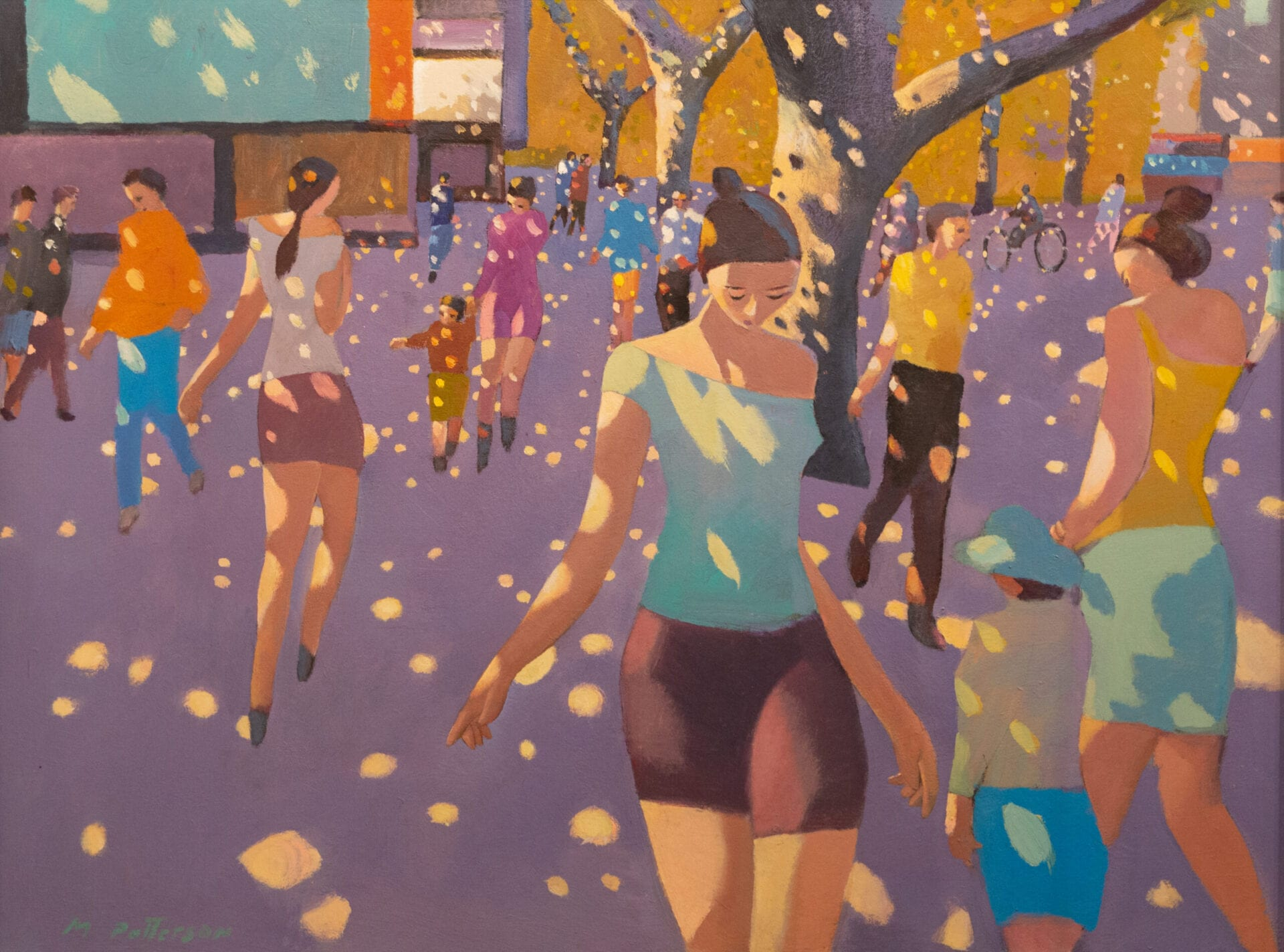 Michael Patterson - Dappled Streets Series: E. Village Teal Shirt