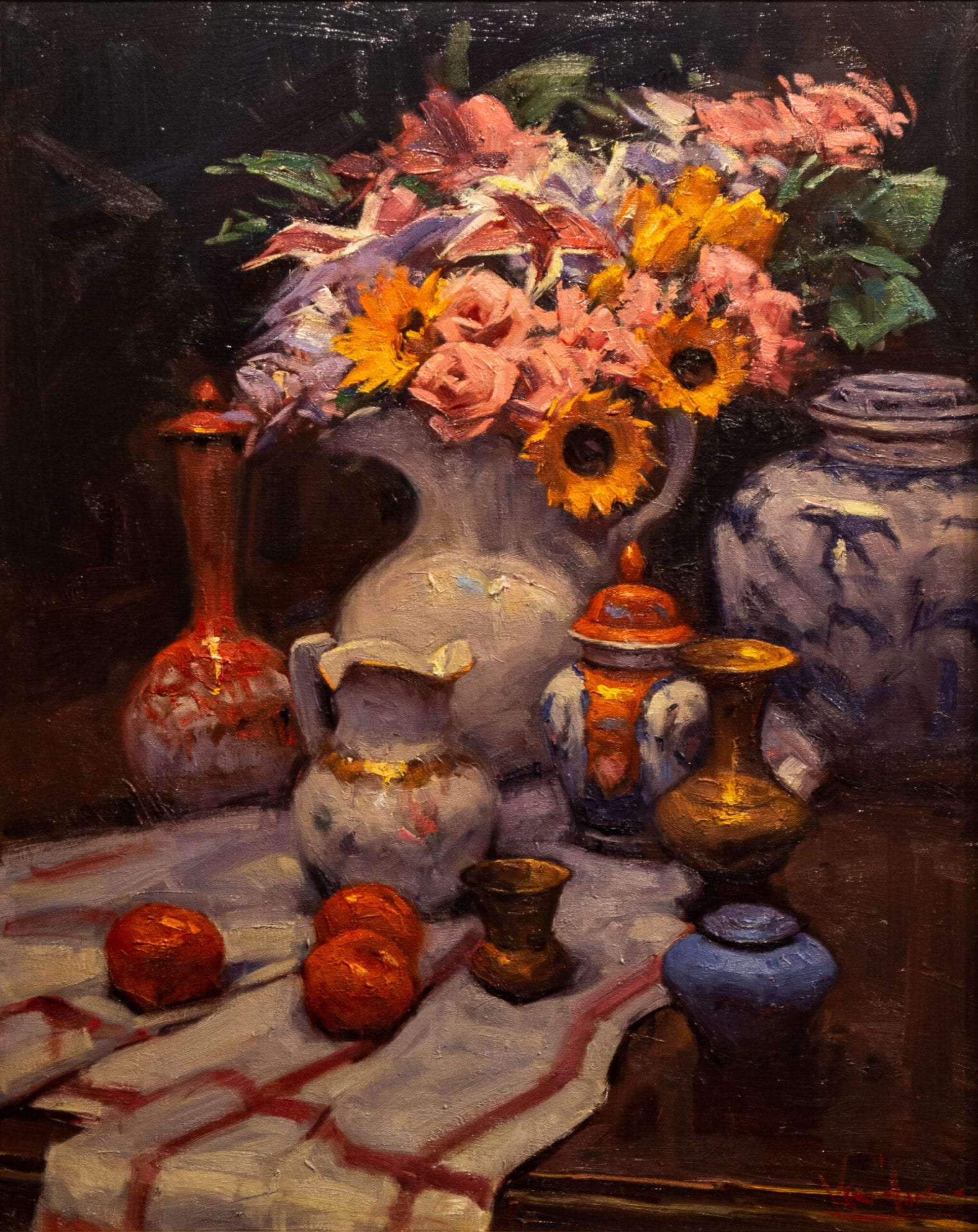 George Van Hook - Still Life with Large Vase