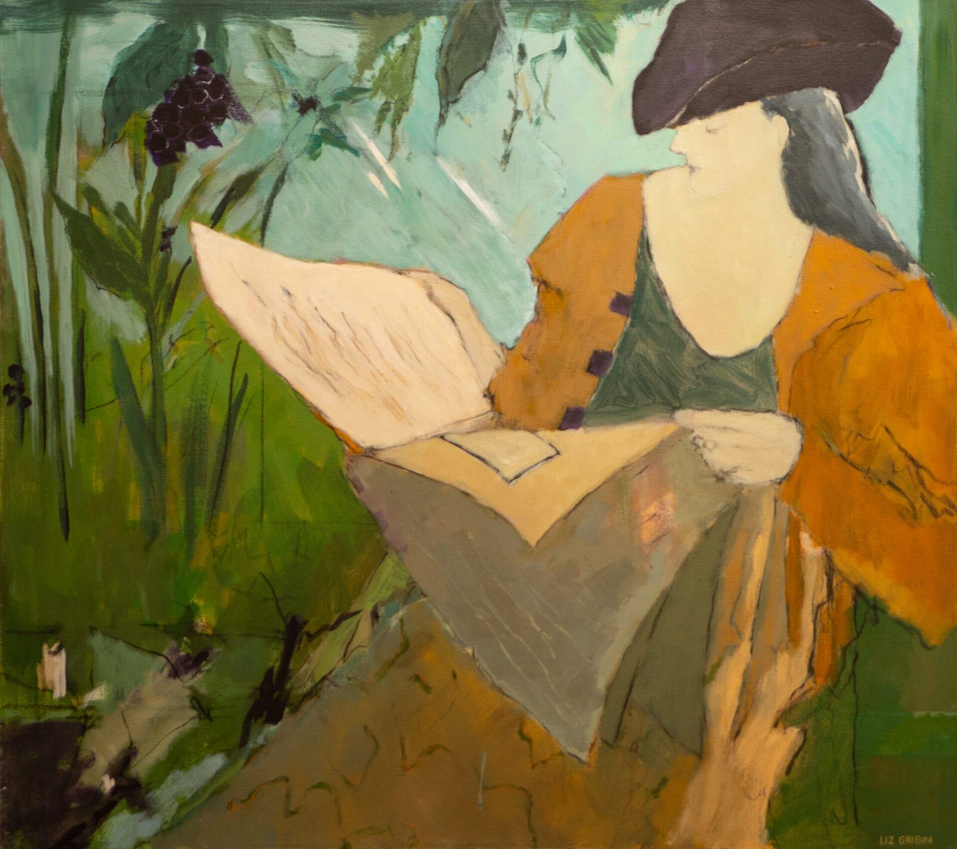 "A New Song | Liz Gribin | 34 x 38"" | Acrylic"