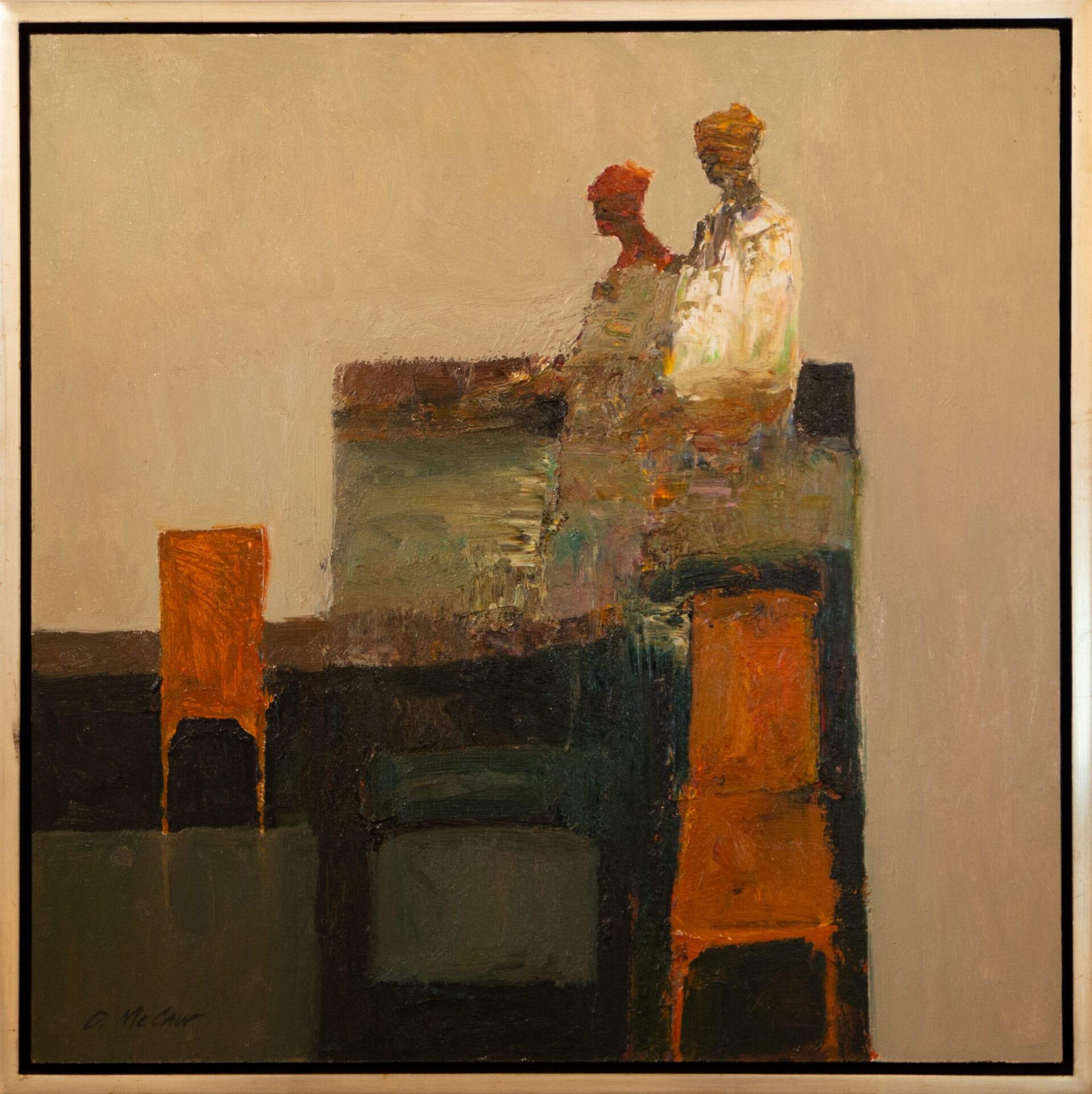 "Dan McCaw | Orange Chair | 24 x 24"" | Oil"