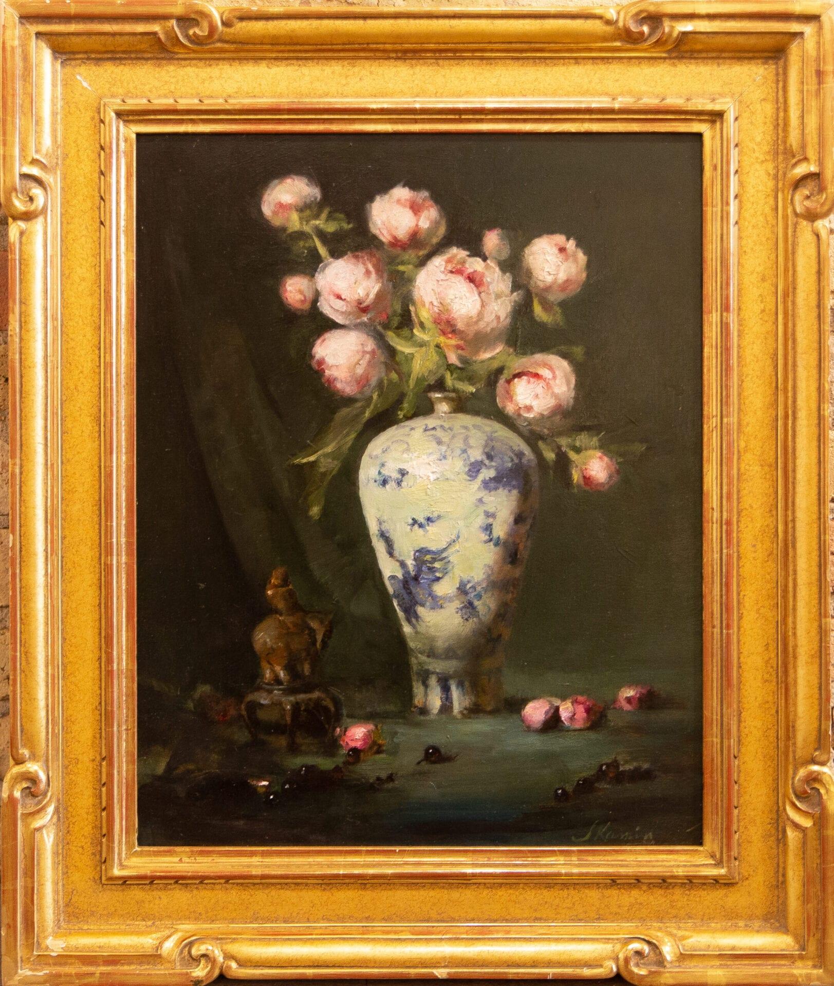 "Pink Peonies | Jacqueline Kain | 20 x 16"" | Oil"