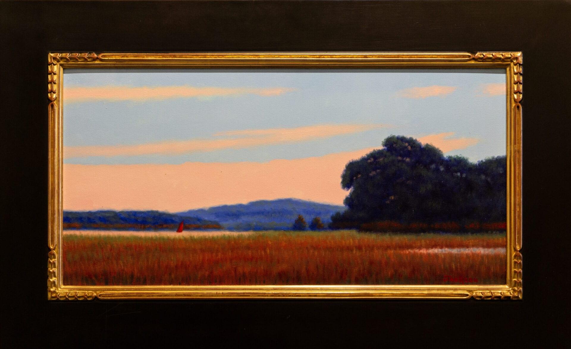 "August Red Sail | Robert Scott Jackson | 12 x 24"" | Oil"
