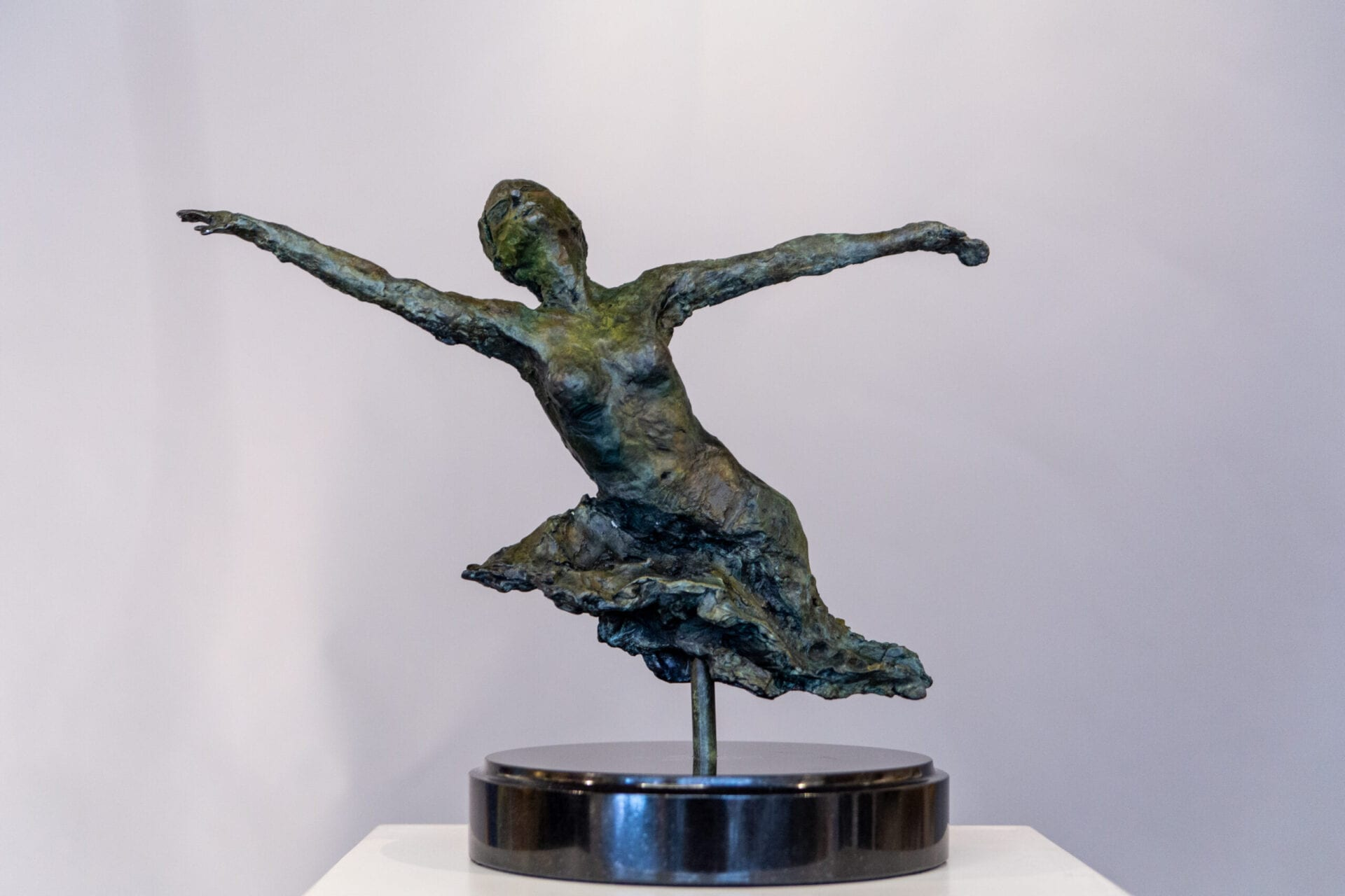 Reaching | Stacy Kamin | Bronze | 15 x 17.5 x 10""