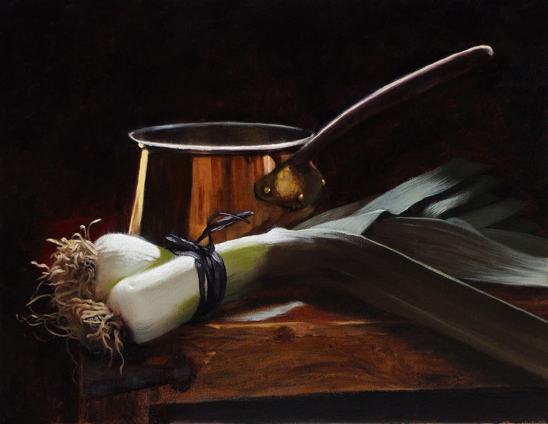 Michael Lynn Adams - Leeks and a Copper Pot