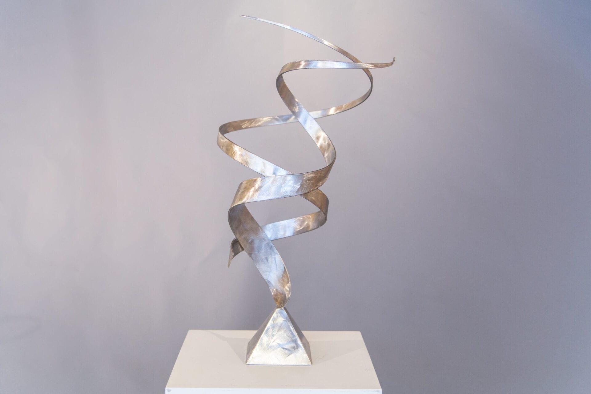 "Simplicity III | Bruce Niemi | 26 x 14 x 14"" | stainless steel"