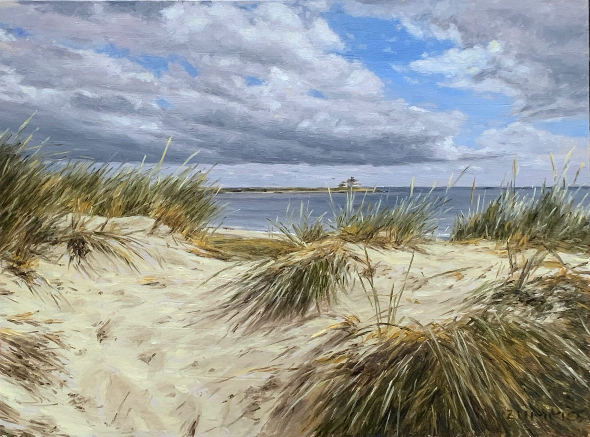 Lori Zummo - Lighthouse from the Dunes