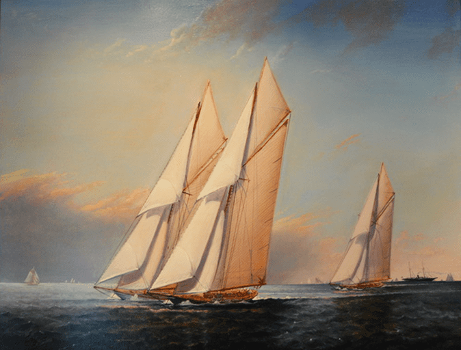 Peter Layne Arguimbau - America Cup Trials Columbia, Independence and Constitution