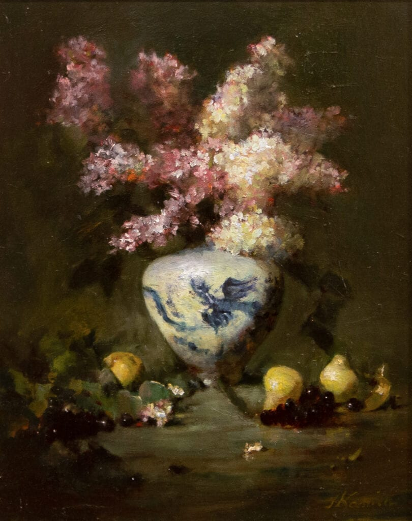 Jacqueline Kamin - Lilacs with Pears