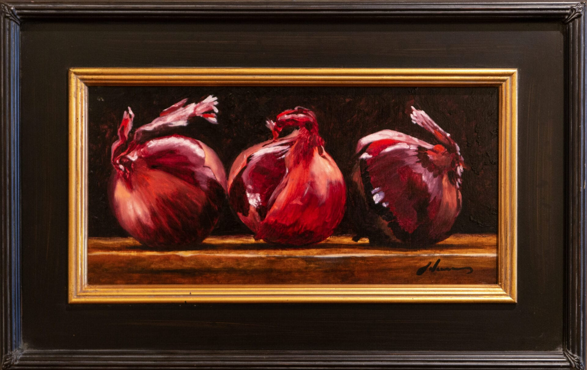 Red Onion Trio | Michael Lynn Adams | Oil | 8 x 16""