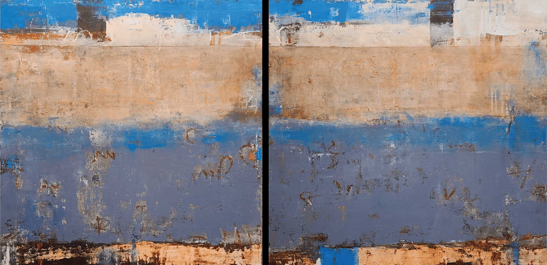 "Ponte Attraverso | Allison B. Cooke | Oil | 30 x 60"" (diptych)"