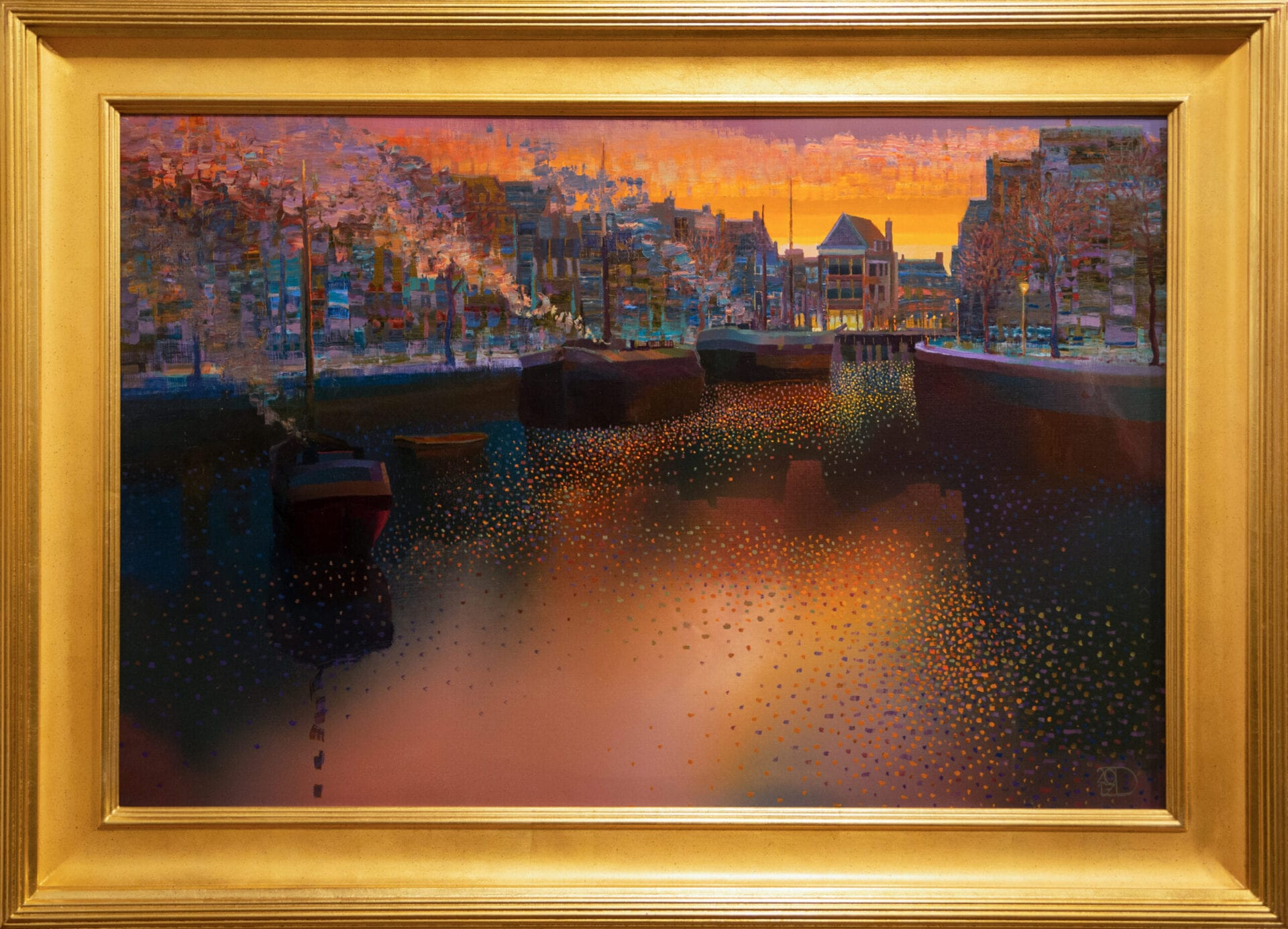Old Harbor Town | Ton Dubbeldam | Oil | 24 x 36""