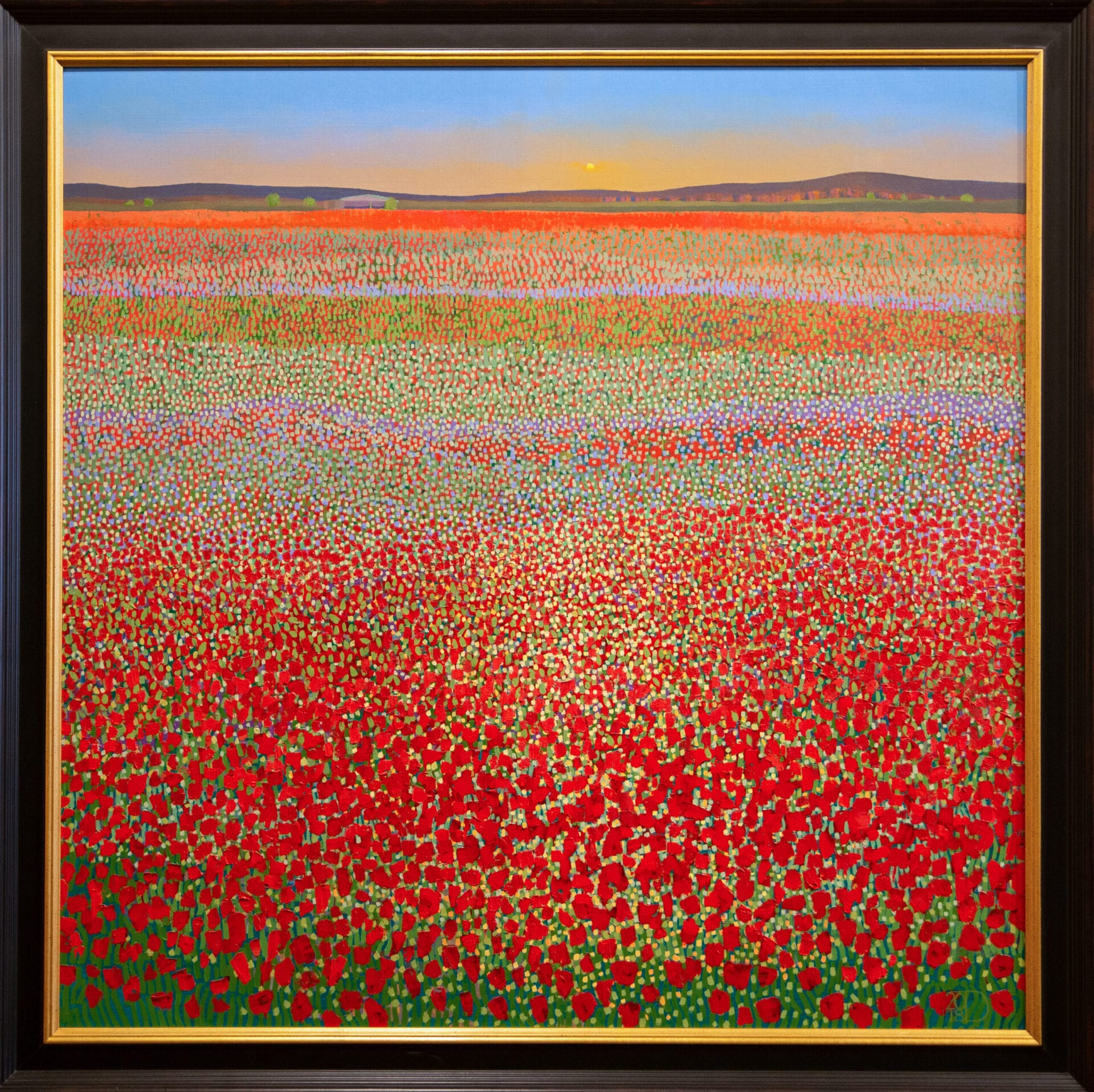 Poppy Field Sunset | Ton Dubbeldam | Oil | 32 x 32""