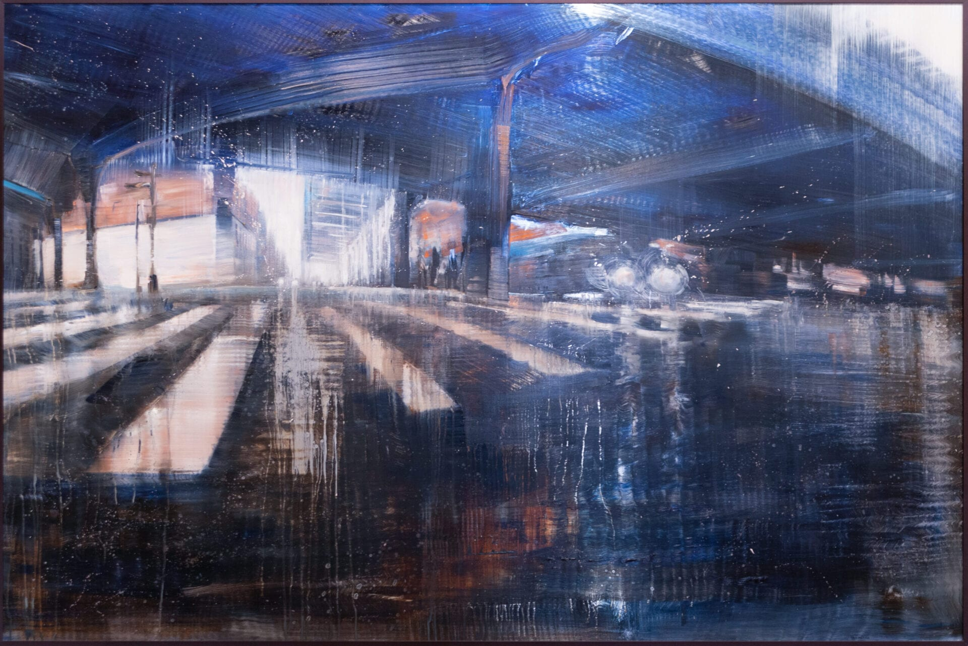 City Reflections | Max Dunlop & David Dunlop | Oil on Aluminum | 48 x 72""