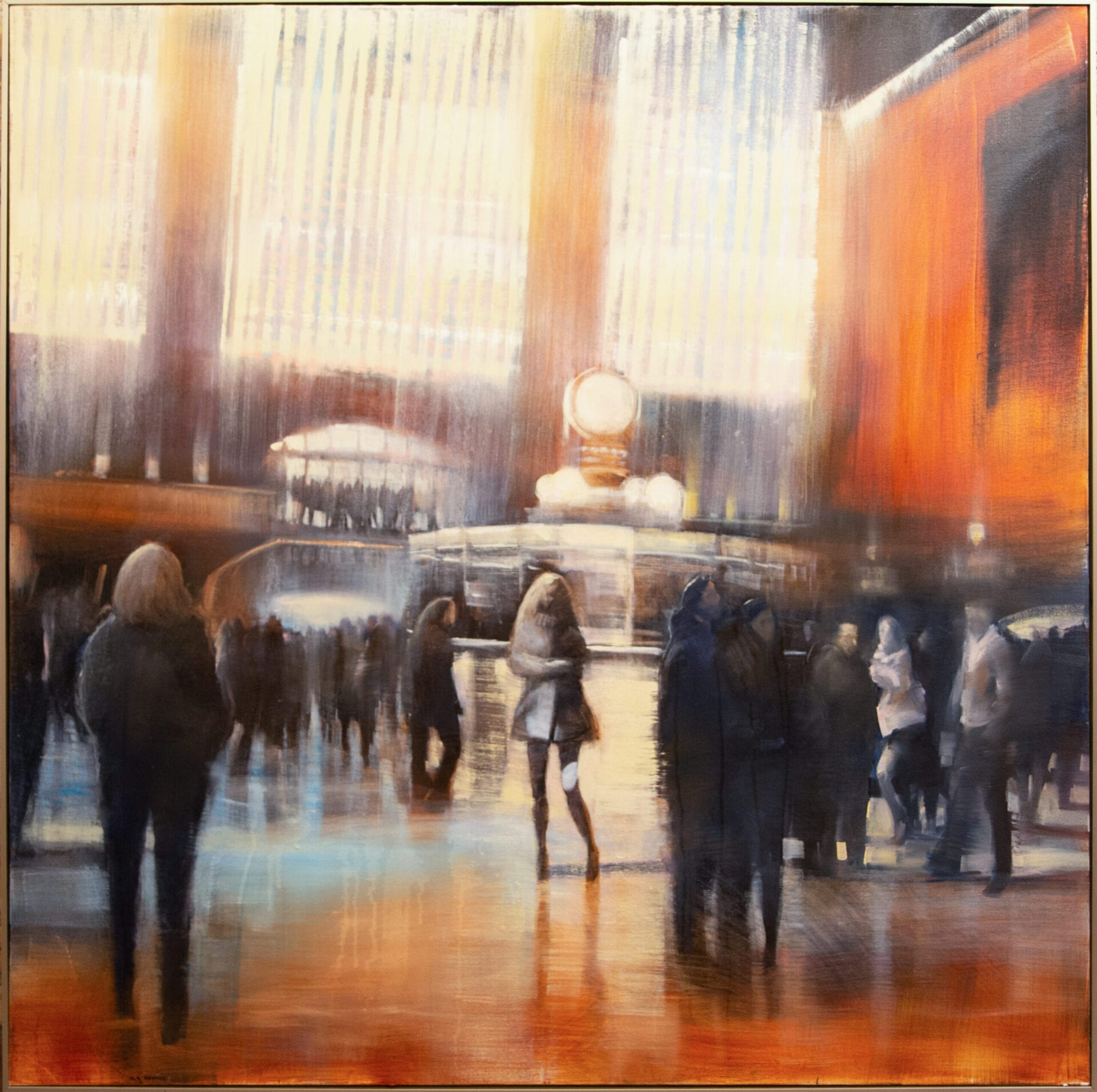 Grand Central | David Dunlop | Oil on Canvas | 48 x 48""