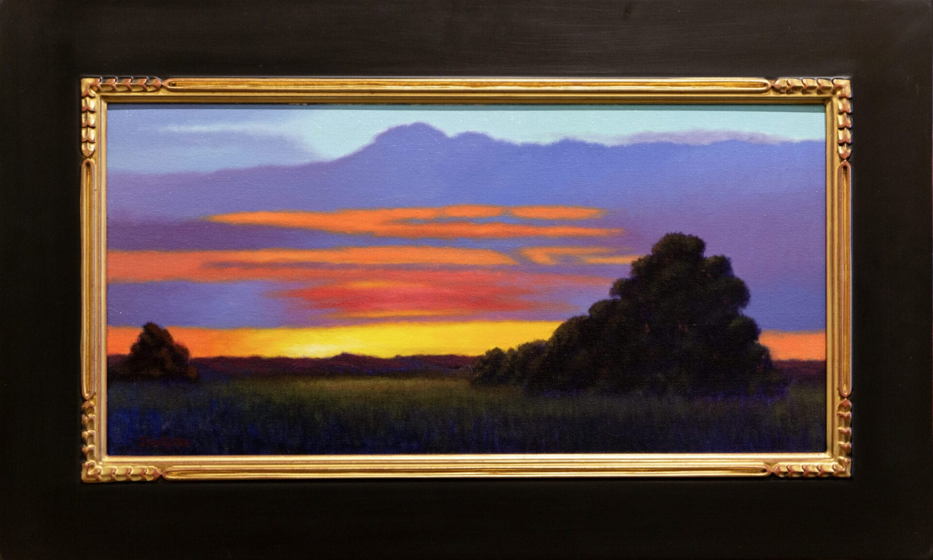 August Sunset | Robert Scott Jackson | Oil | 12 x 24""